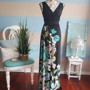 London Times Floral Maxi Dress